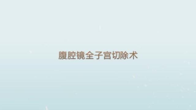 腹腔镜全子宫切除术